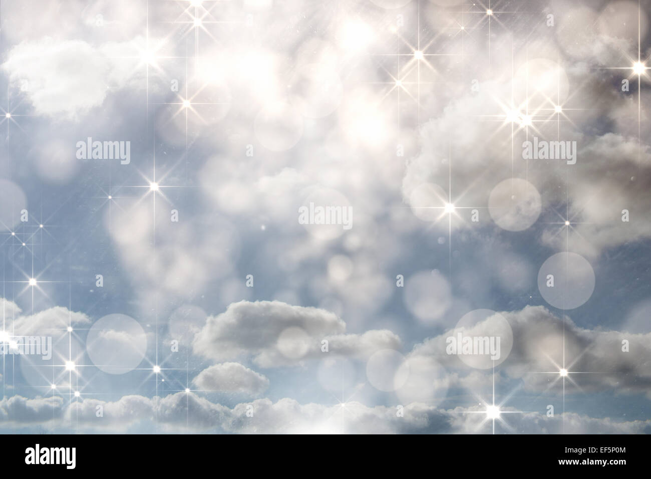 Composite image of shimmering light design on grey - Stock Image