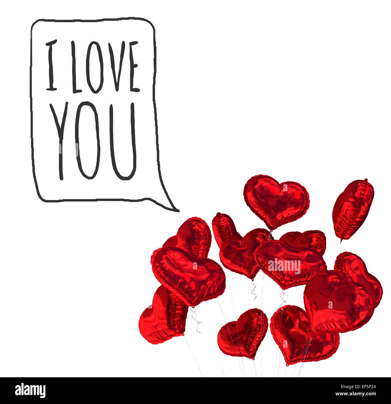 composite image of i love you stock image