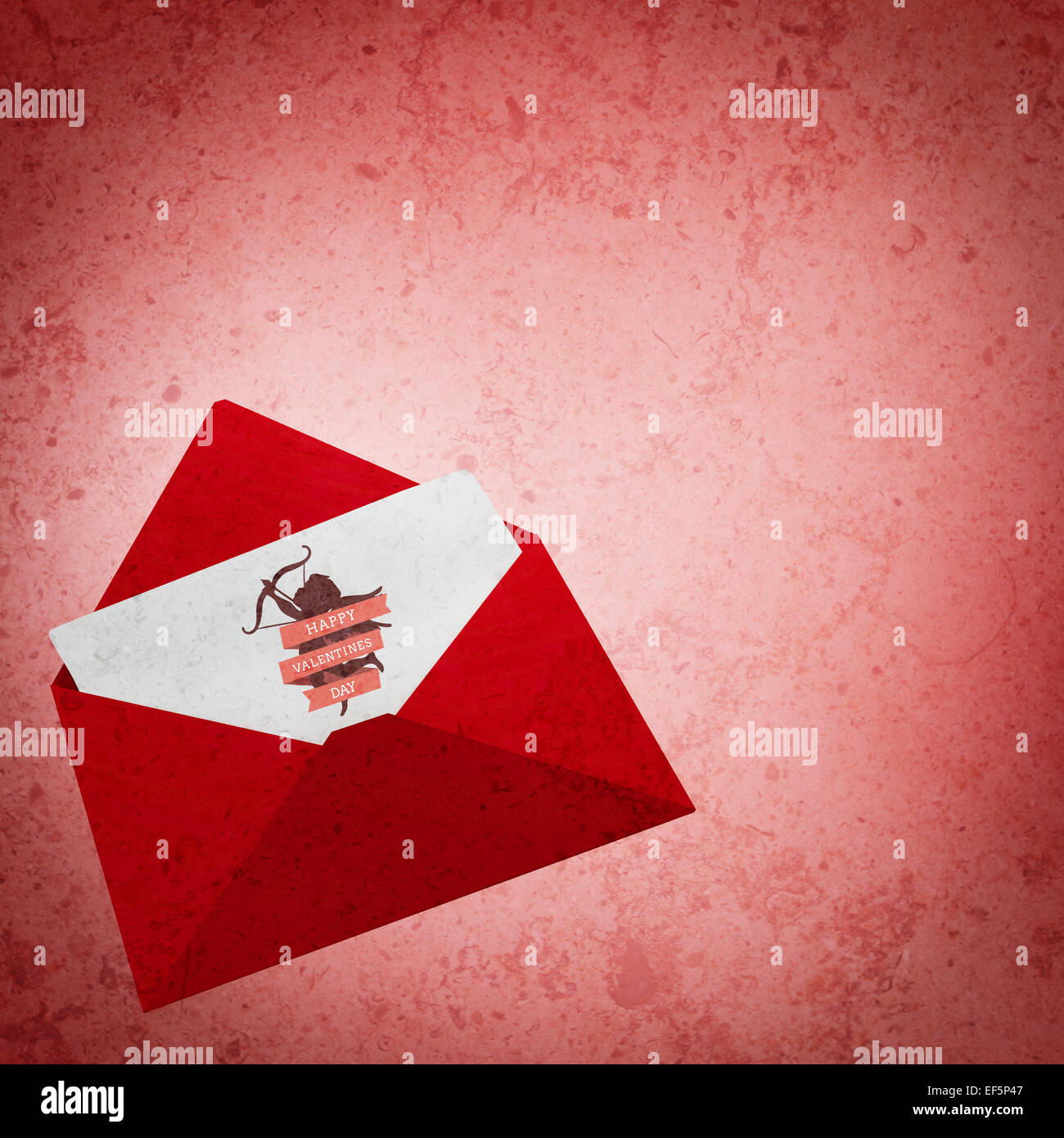 Composite image of love letter - Stock Image