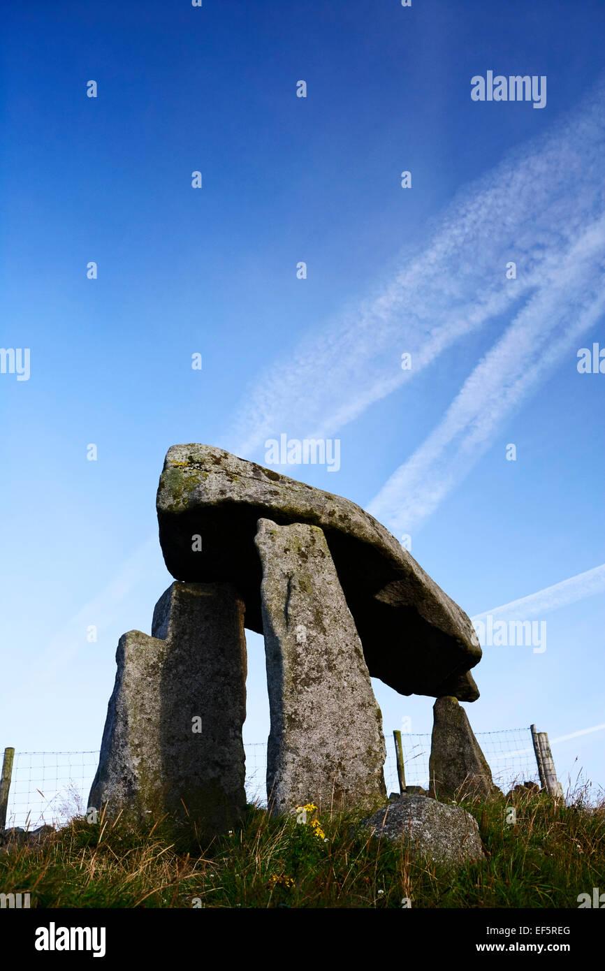 Legananny dolmen portal tomb county down ireland - Stock Image