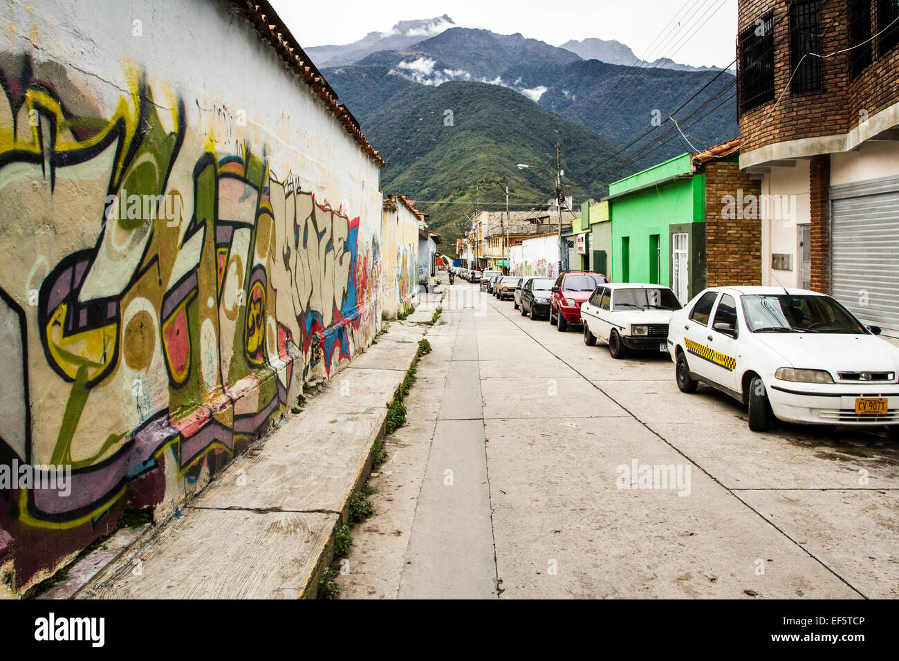 Street in downtown. Merida, Merida, Venezuela. - Stock Image