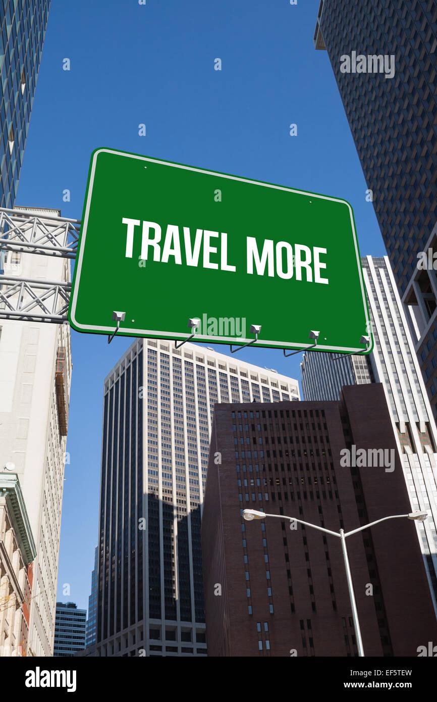 Travel more against new york - Stock Image