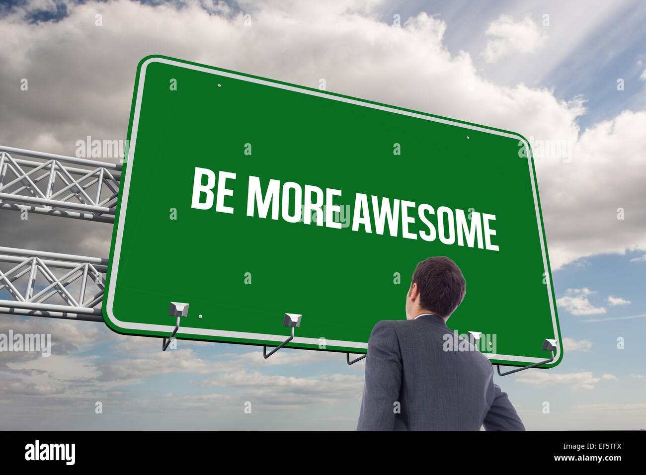 Be more awesome against sky - Stock Image