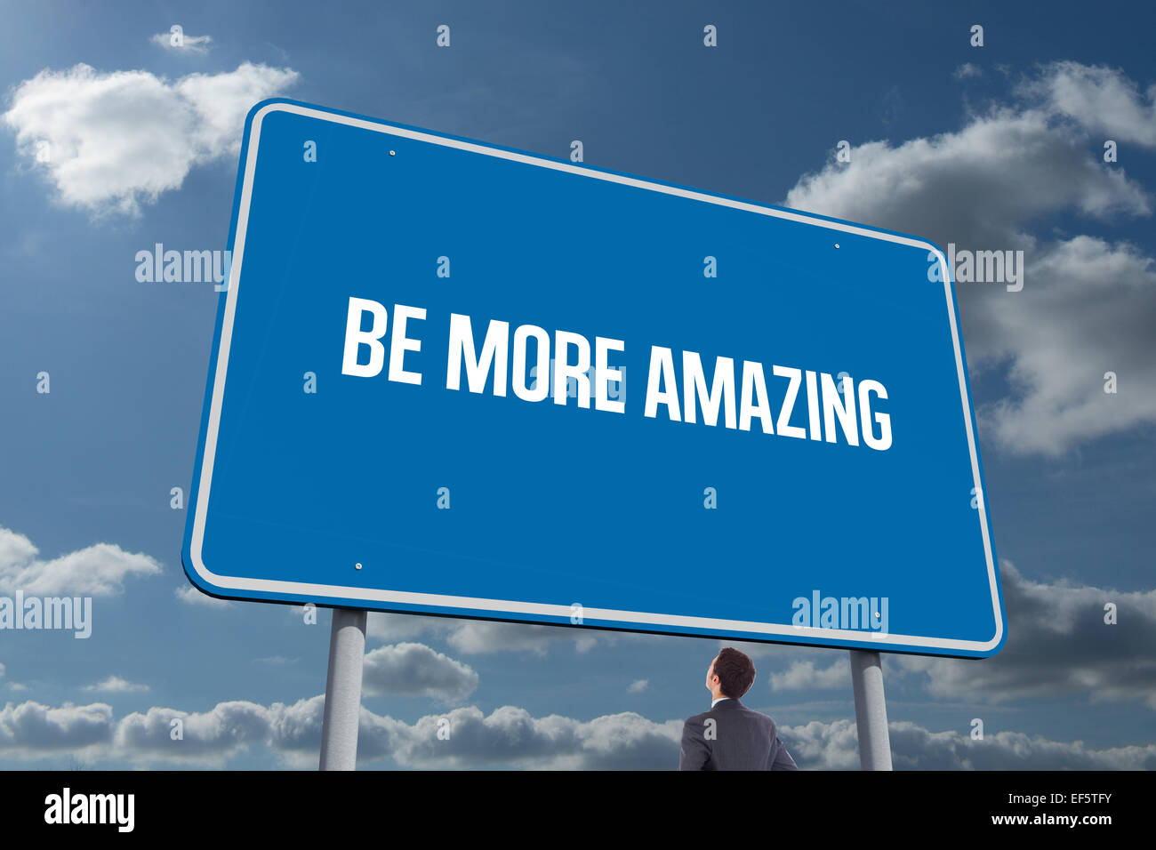 Be more amazing against sky and clouds - Stock Image
