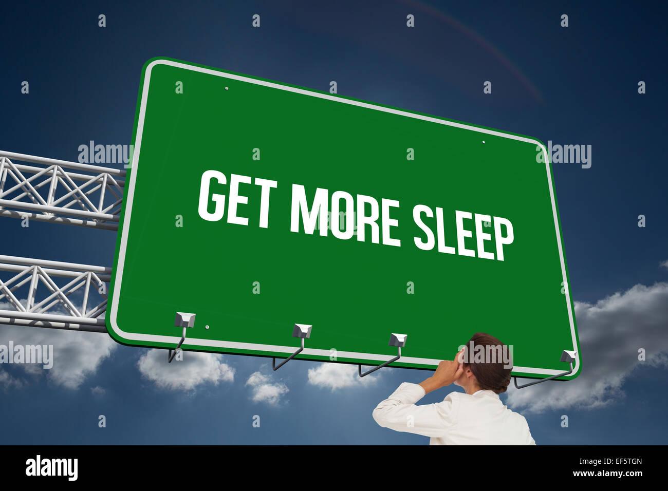Get more sleep against sky - Stock Image