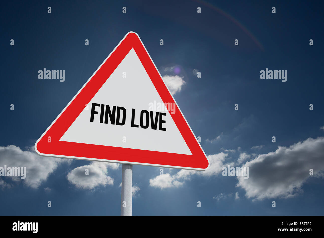 Find love against sky - Stock Image