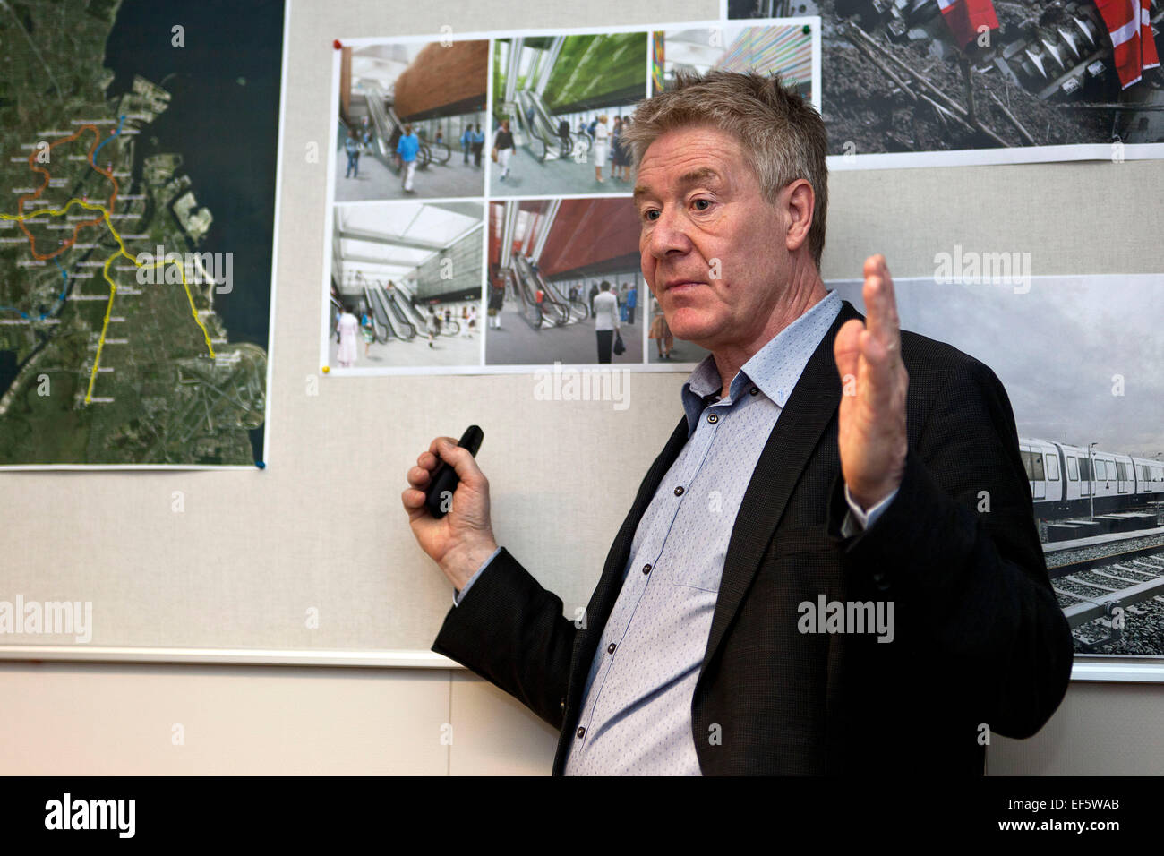Copenhagen, Denmark, January 27, 2015: Guy Taylor, Project Director at Metroselskabet – the company operating the - Stock Image