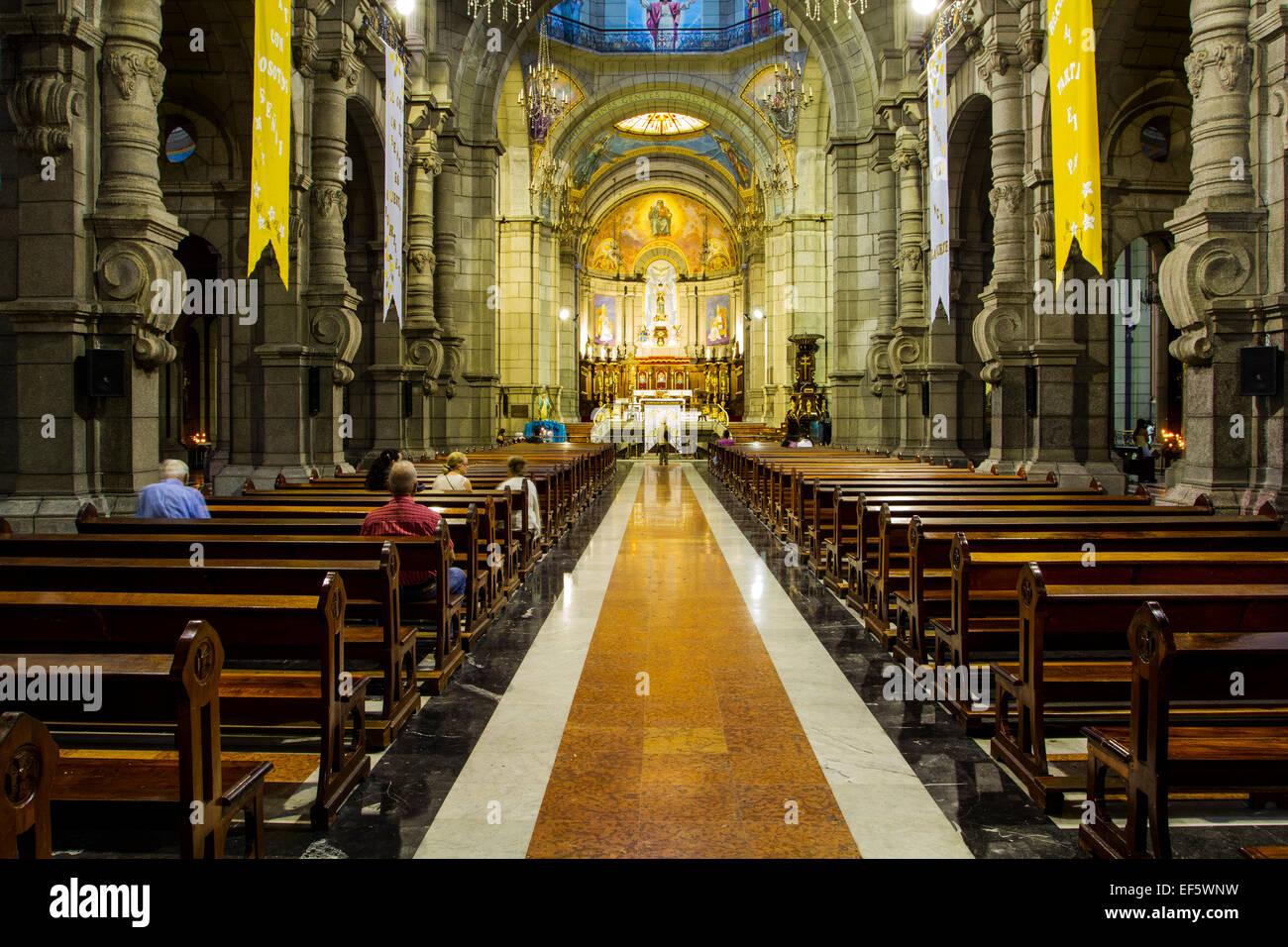 Interior of Basilica Menor Inmaculada Concepcion, Cathedral of Merida. Merida, Merida, Venezuela. Stock Photo