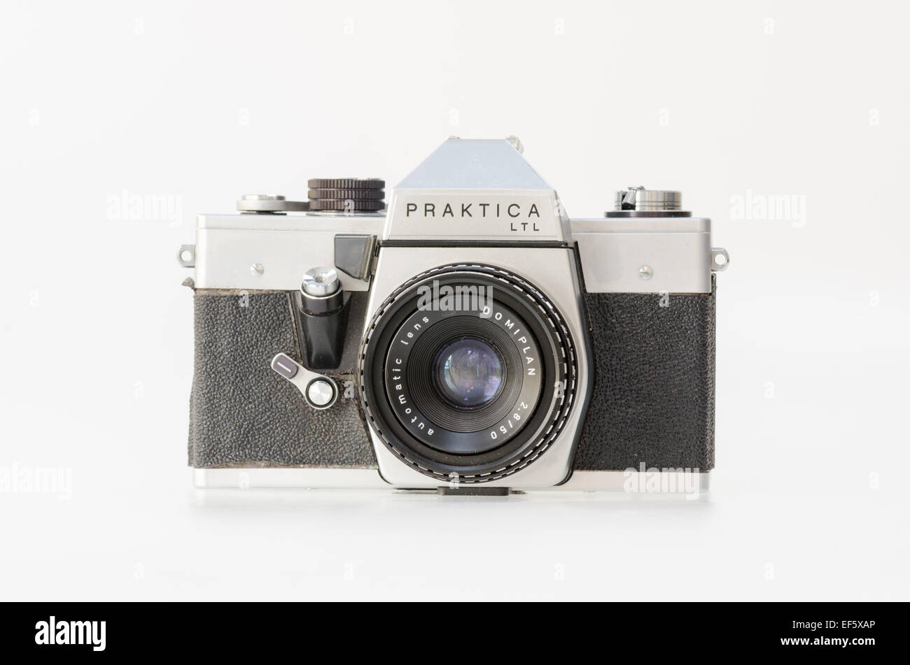 Silver Praktica LTL 35mm film slr camera - Stock Image