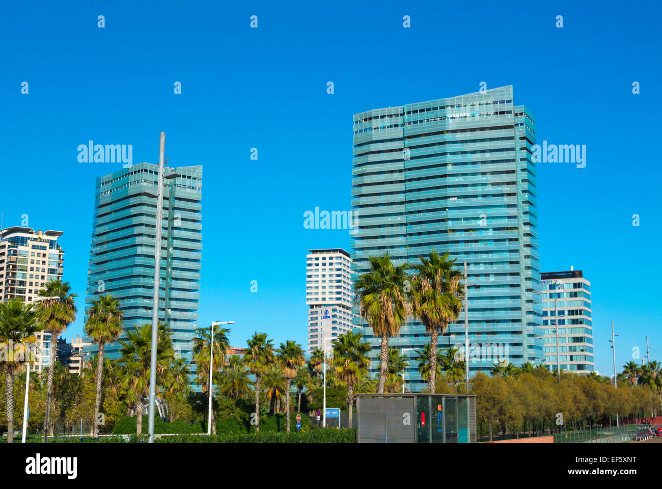 Diagonal Mar, Sant Marti district, Barcelona, Spain Stock Photo