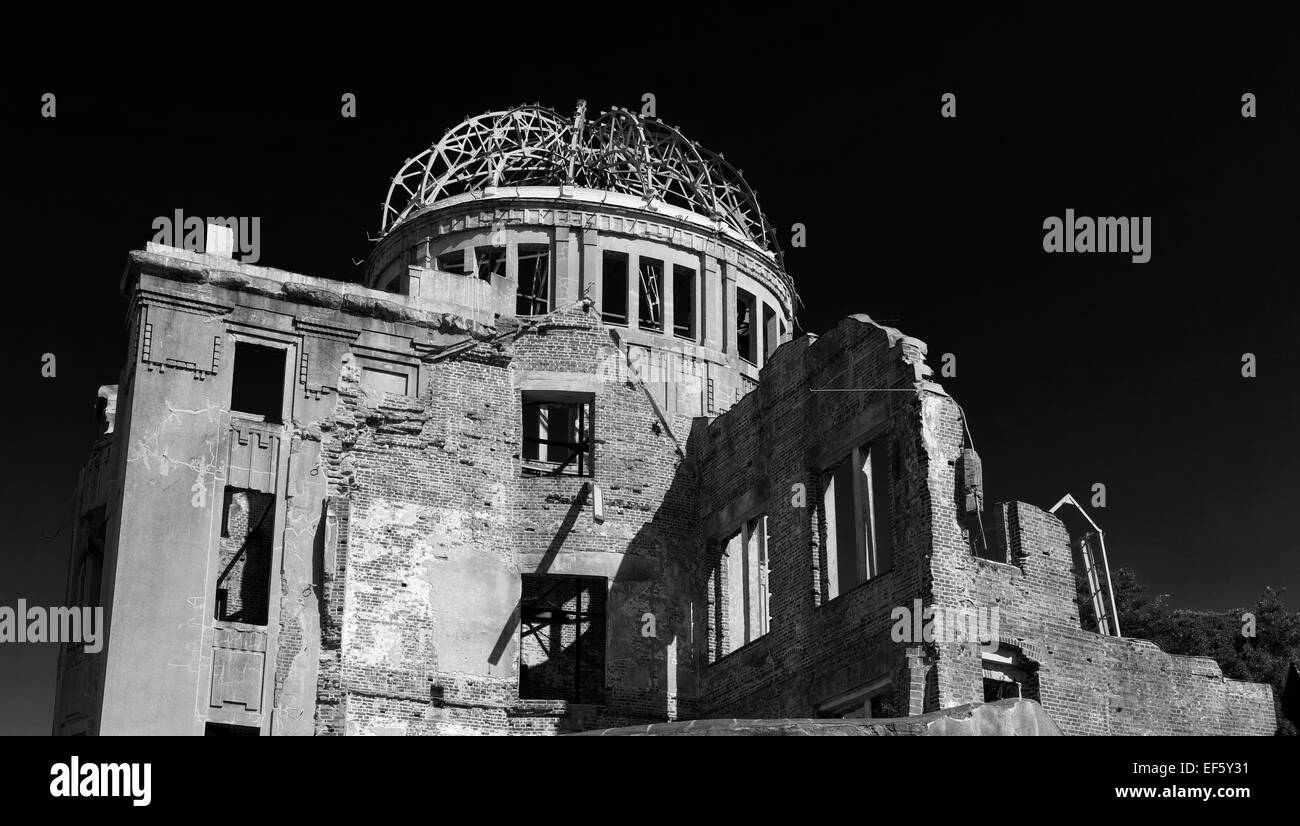 Atomic Bomb Dome in Hiroshima, Japan - Stock Image