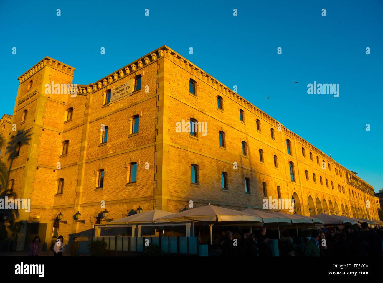 Palau de Mar, housing Catalonia history museum, Port Vell, Barcelona, Spain - Stock Image