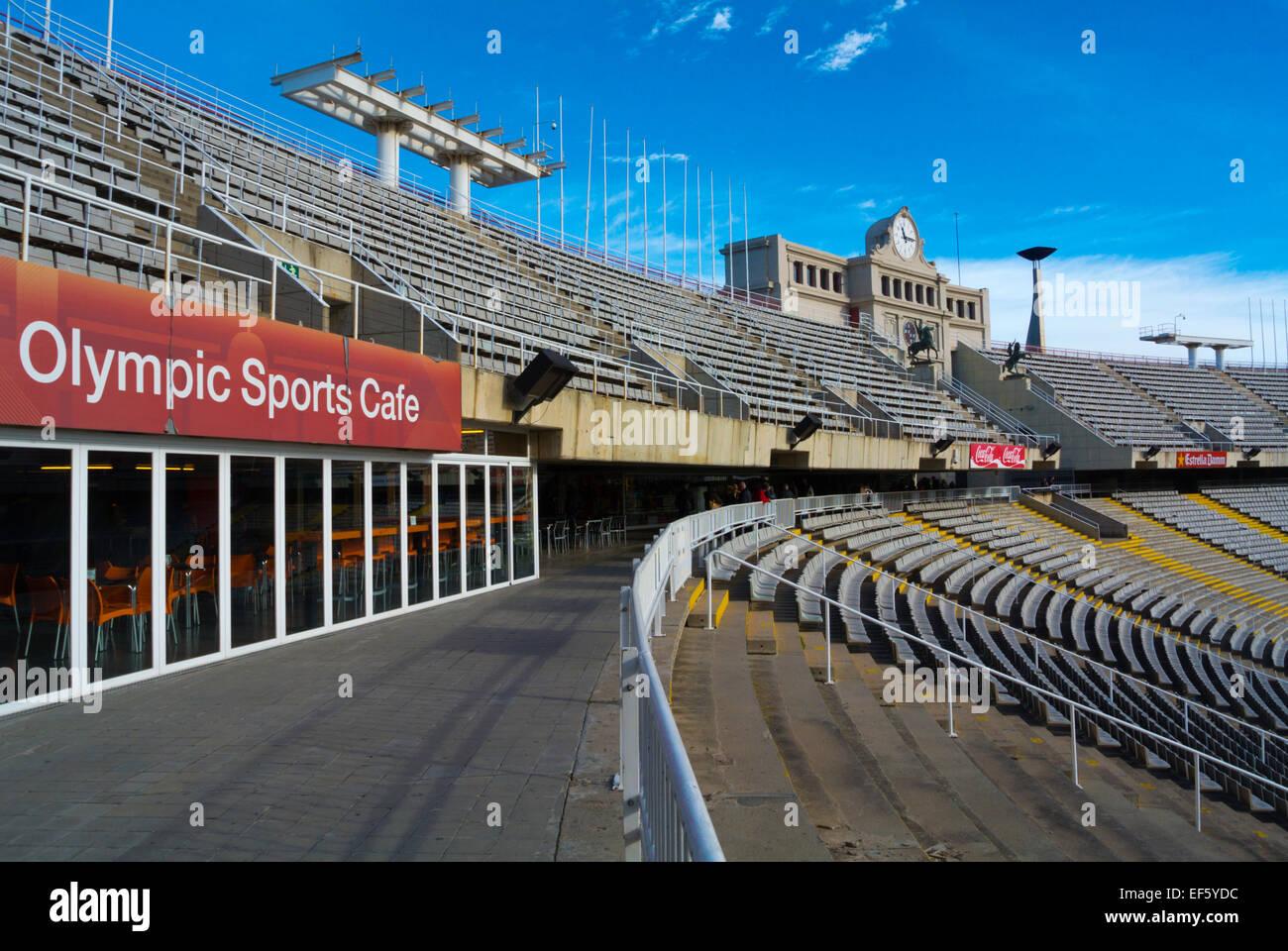 Estadi Olimpic Lluis Campanys, the Olympic Stadium, Montjuic, Barcelona, Spain - Stock Image