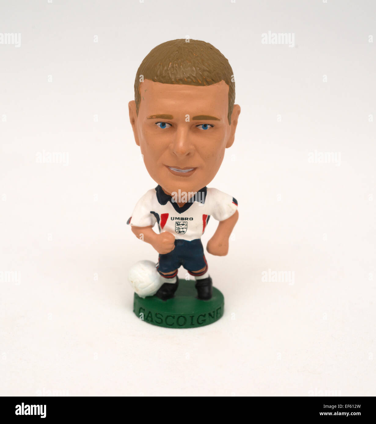 Paul Gascoigne football figure - Stock Image