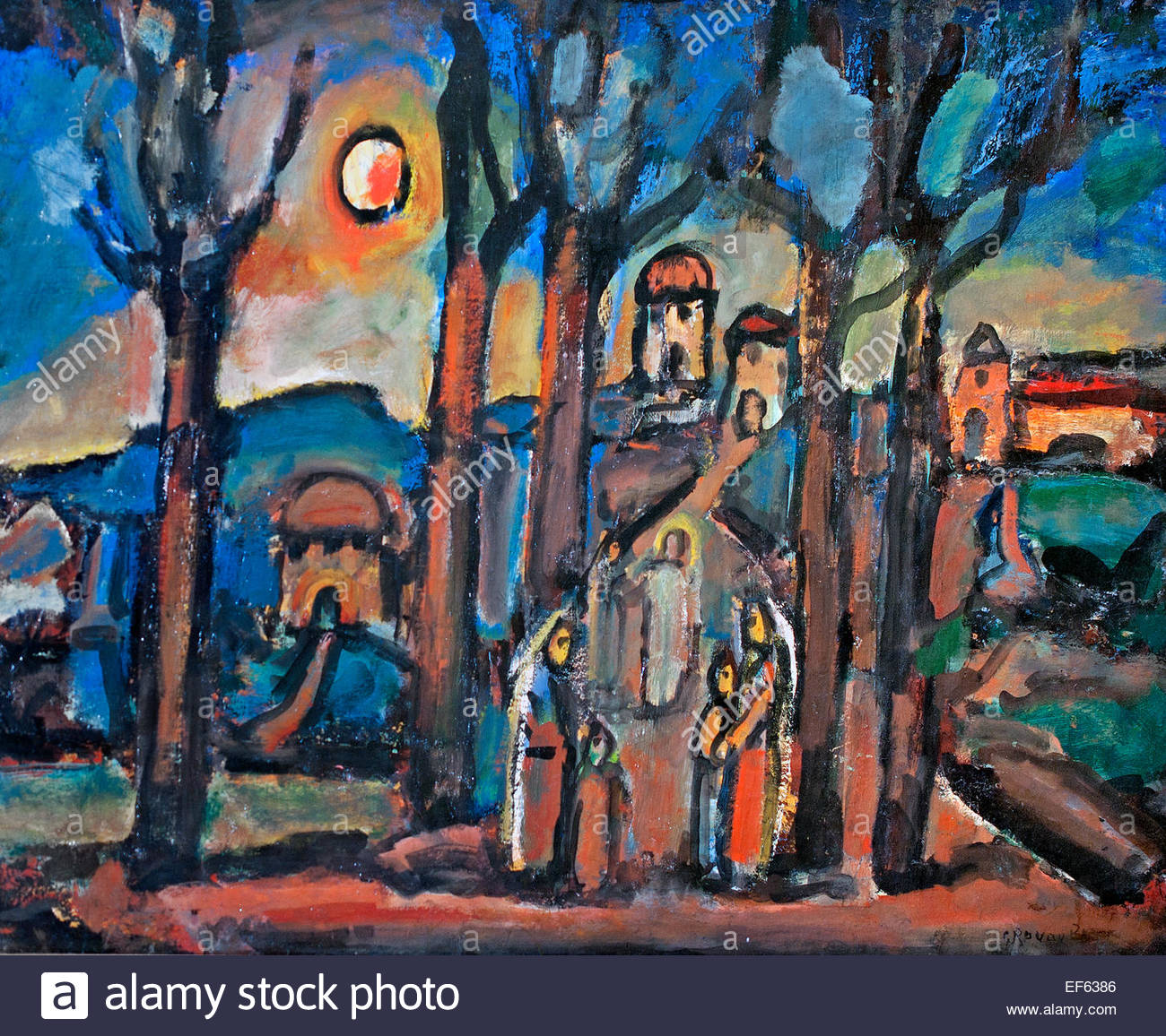 Automne ou Nazareth - Autumn and Nazareth 1948 Georges Rouault  France French( Vatican Collection of Modern Religious - Stock Image