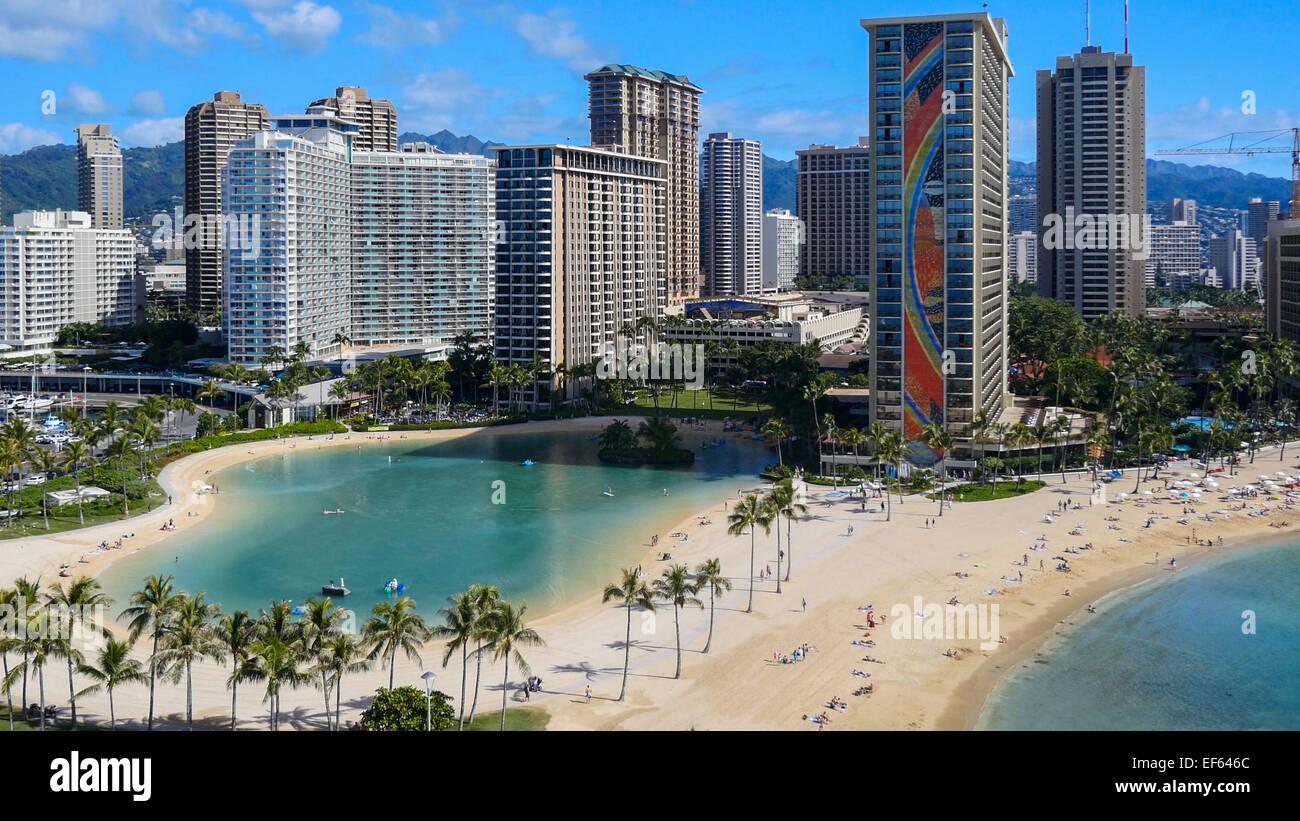 Waikiki, Oahu, Hawaii - Stock Image