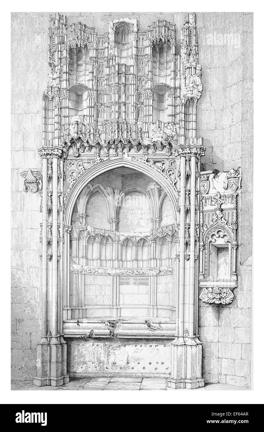 1852 Bishop Kennedy's Tomb College Church St Andrew's - Stock Image