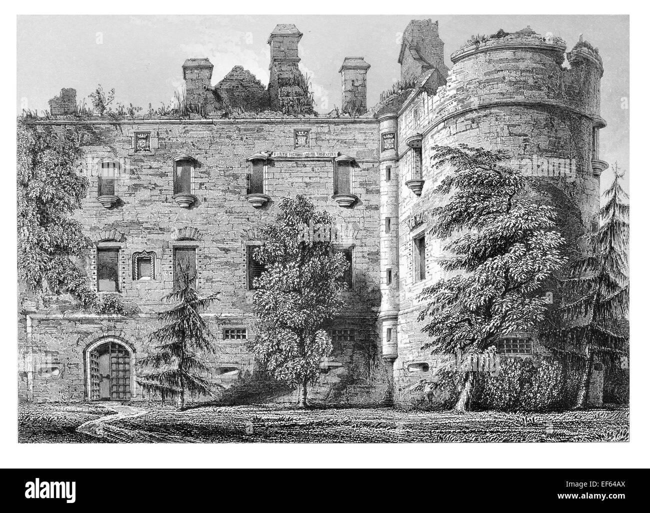 1852 Balveny Castle Near Dufftown, Banffshire Scotland - Stock Image