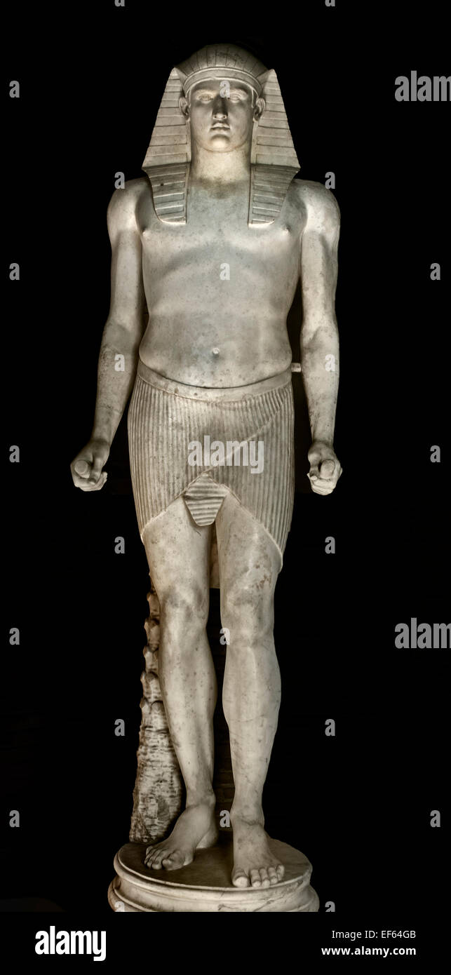 Antinous Osiris 131-138 AD (marble)  Roman ( 2 century AD )Vatican Rome Italy ( Bythinian youth favourite  Emperor - Stock Image
