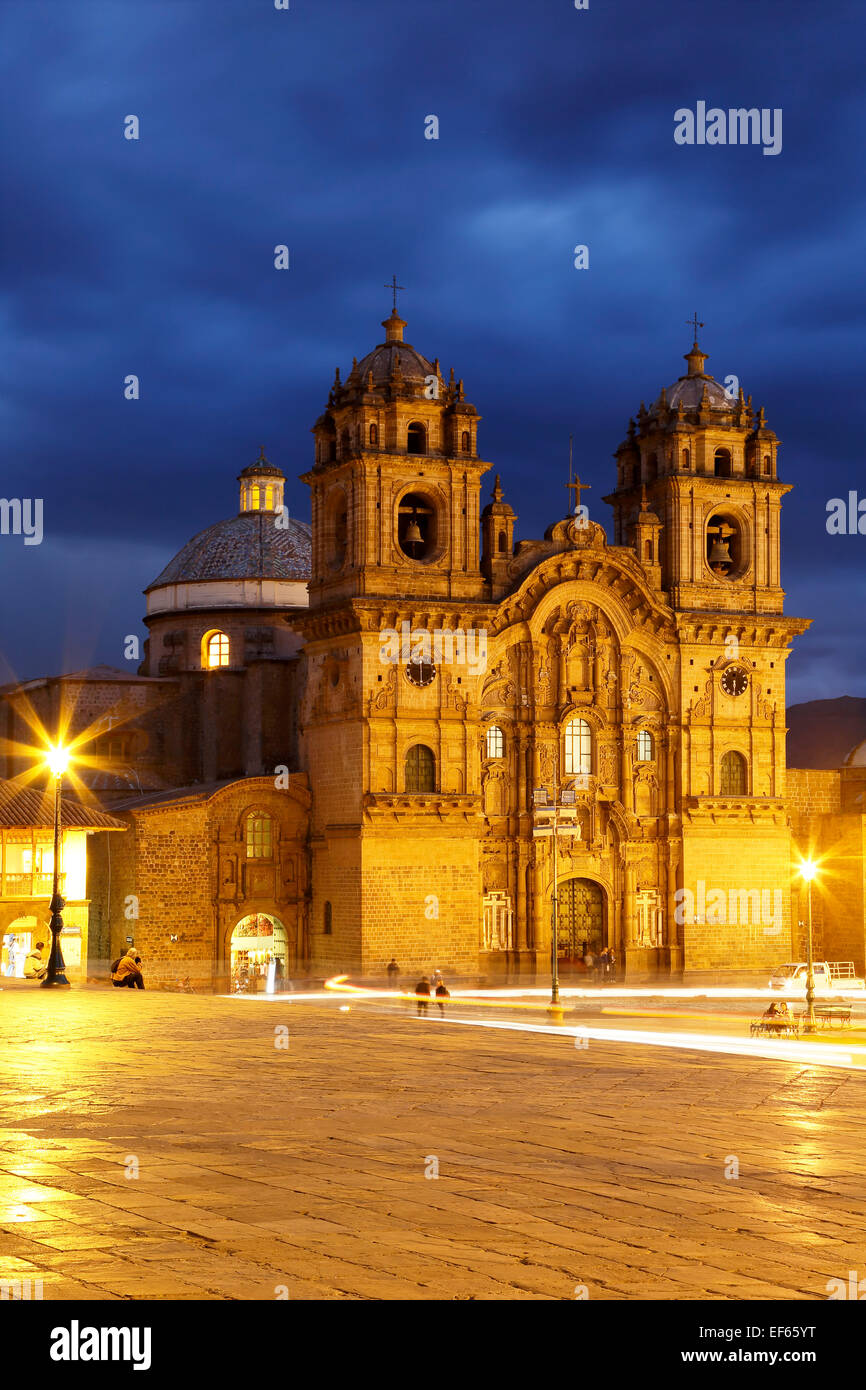 La Compania de Jesus (The Company of Jesus) Church, Cusco, Peru - Stock Image