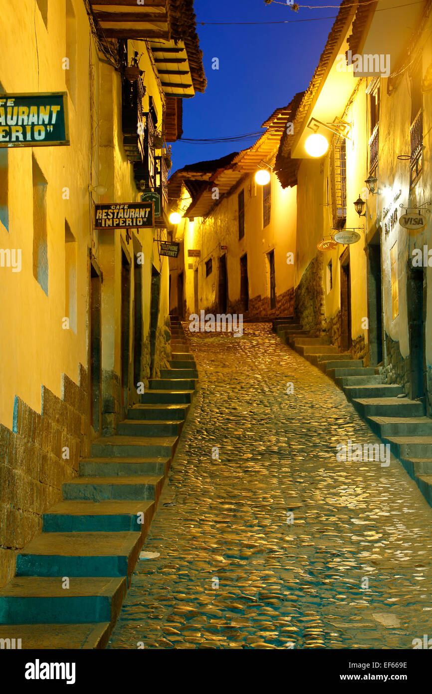 Cuesta San Blas (San Blas Hill), San Blas Neighborhood, Cusco, Peru - Stock Image