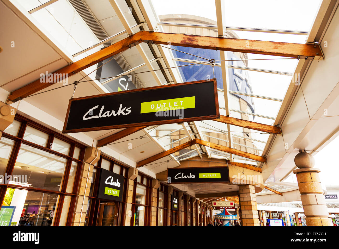 0f6f6d4f92e1eb Clarks shoes outlet sign Doncaster Lakeside shops stores shop store Town  South Yorkshire UK England -