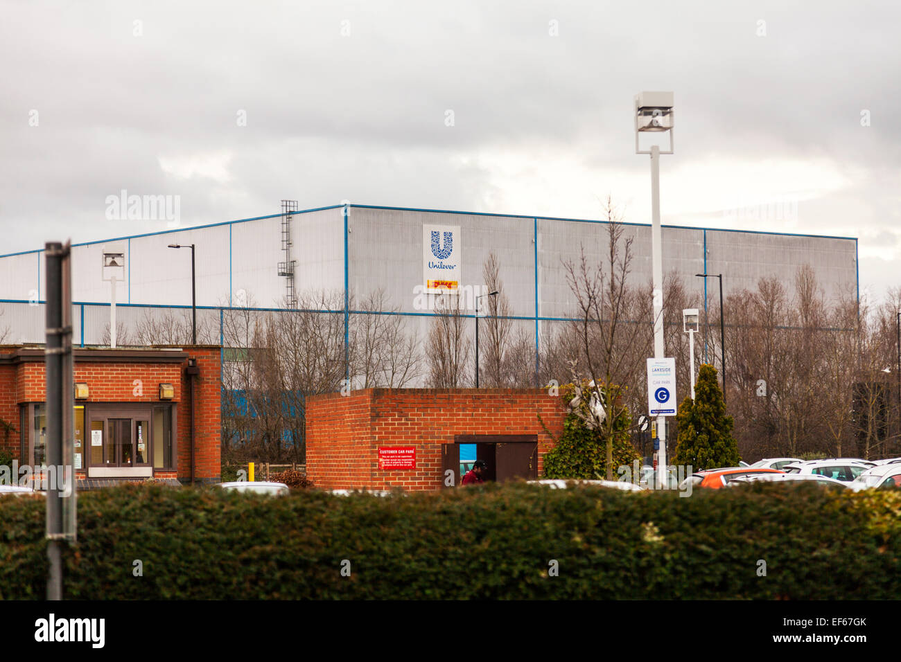 Unilever Doncaster factory building exterior sign Town South Yorkshire UK England - Stock Image