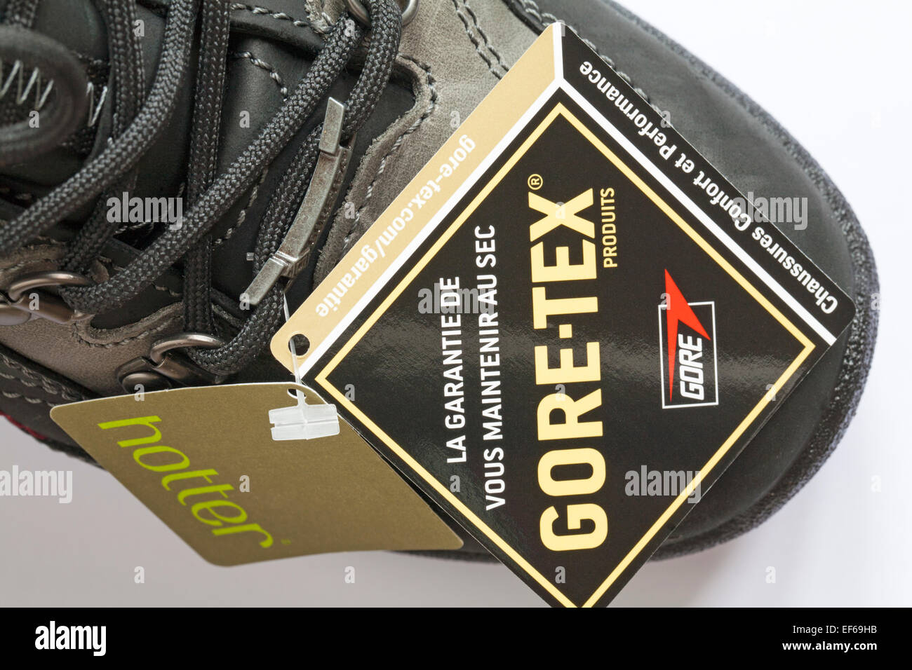 dc3e3d1520f labels on Hotter Gore-tex boots guaranteed to keep you dry Stock ...