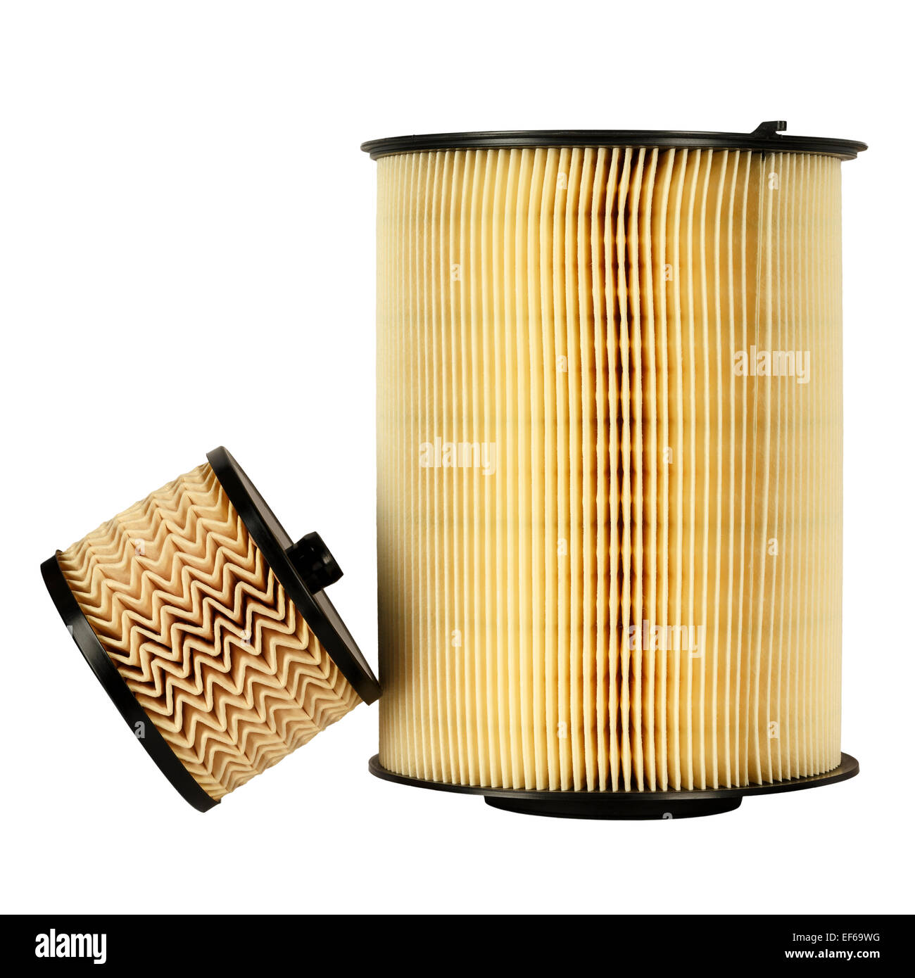 Automotive fuel filter and air filter - Stock Image