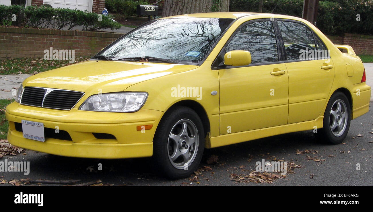2002 2003 Mitsubishi Lancer OZ Rally 11 26 2011 Stock Photo ...