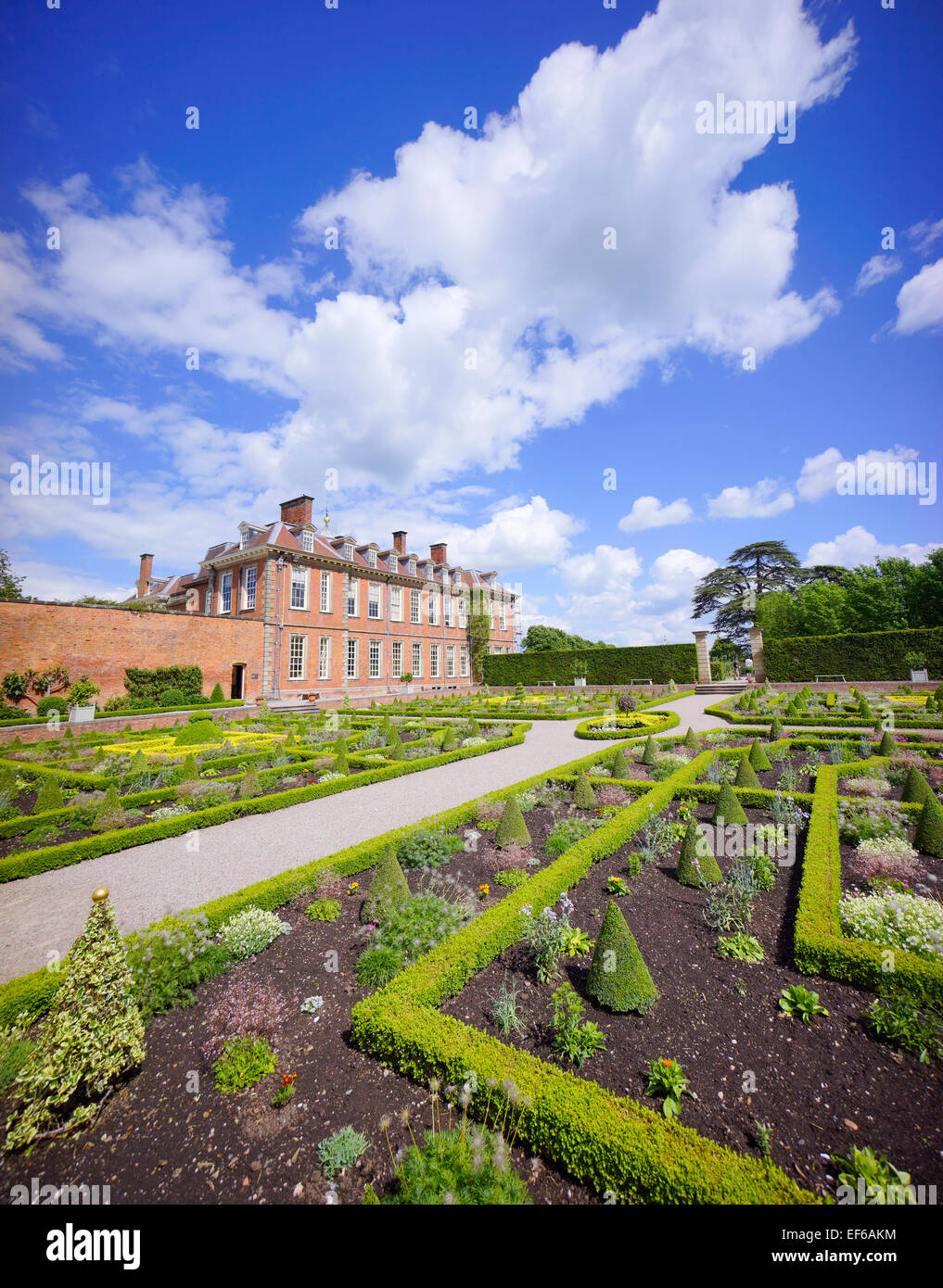 aristocracy, country, england, english, family, gardens, gb, hall, home, house, mansion, midlands, national, nobility, - Stock Image
