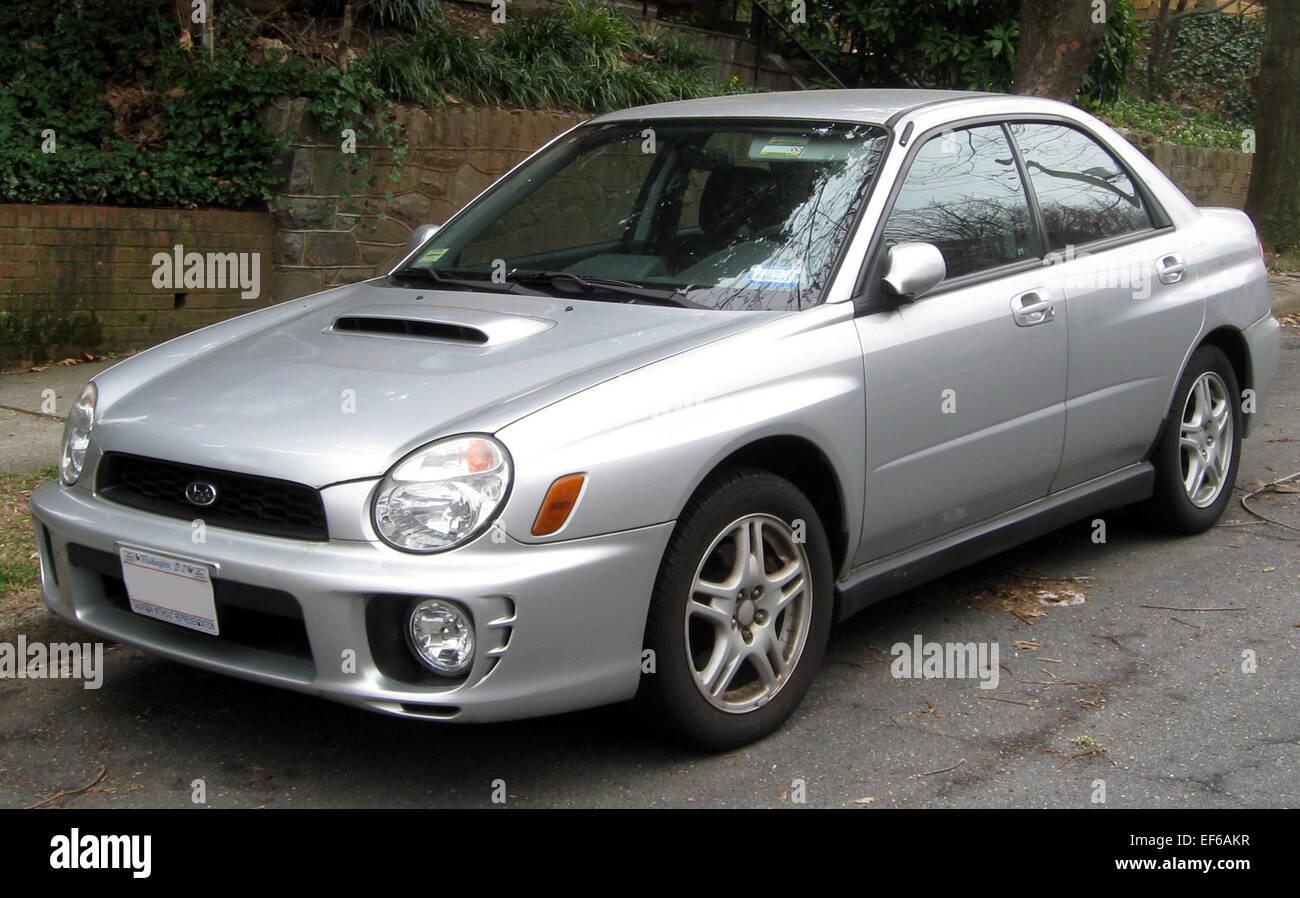 2002 2003 Subaru Impreza WRX sedan 03 16 2012 2 Stock Photo ...