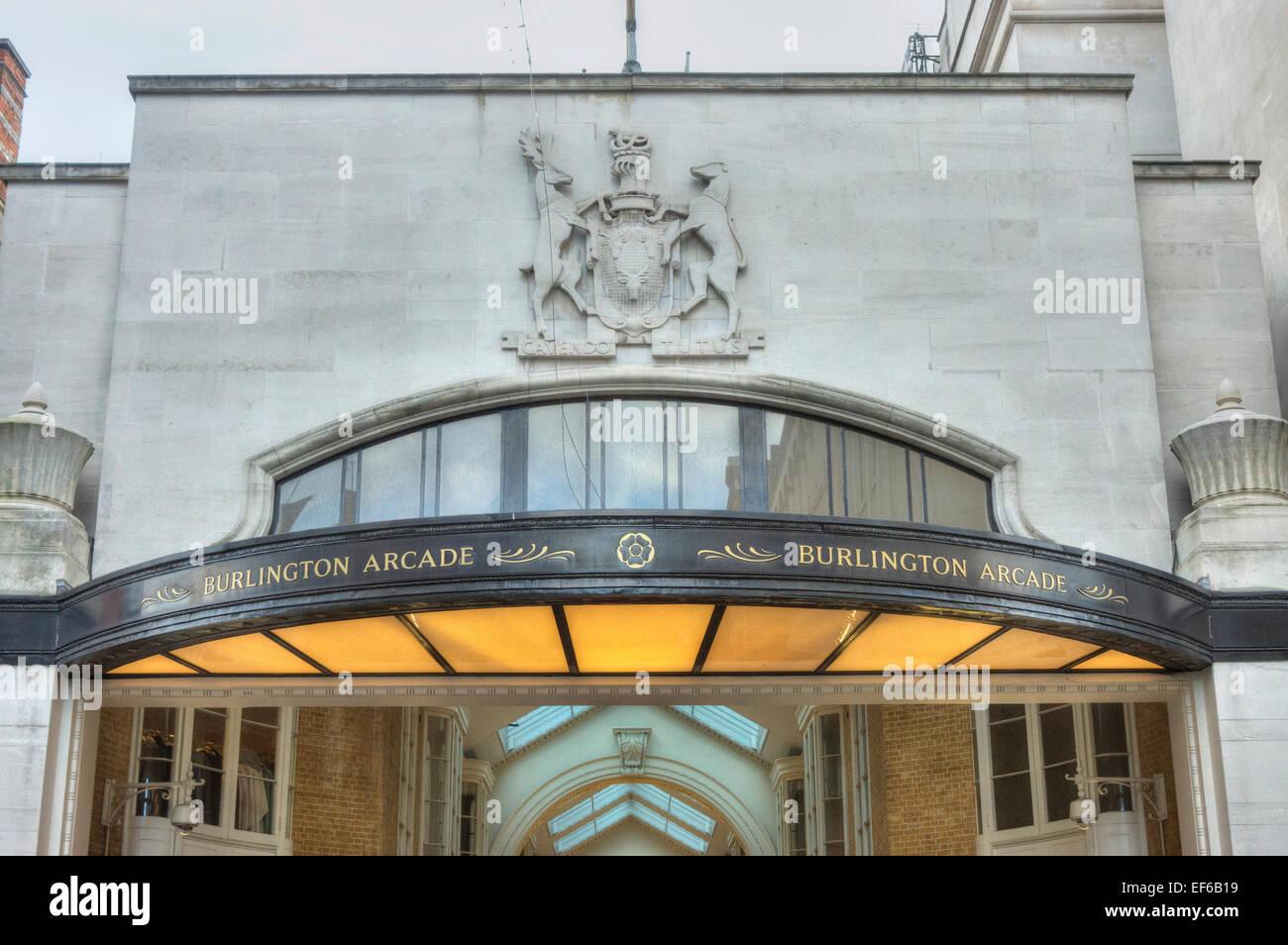 Burlington Arcade  London - Stock Image