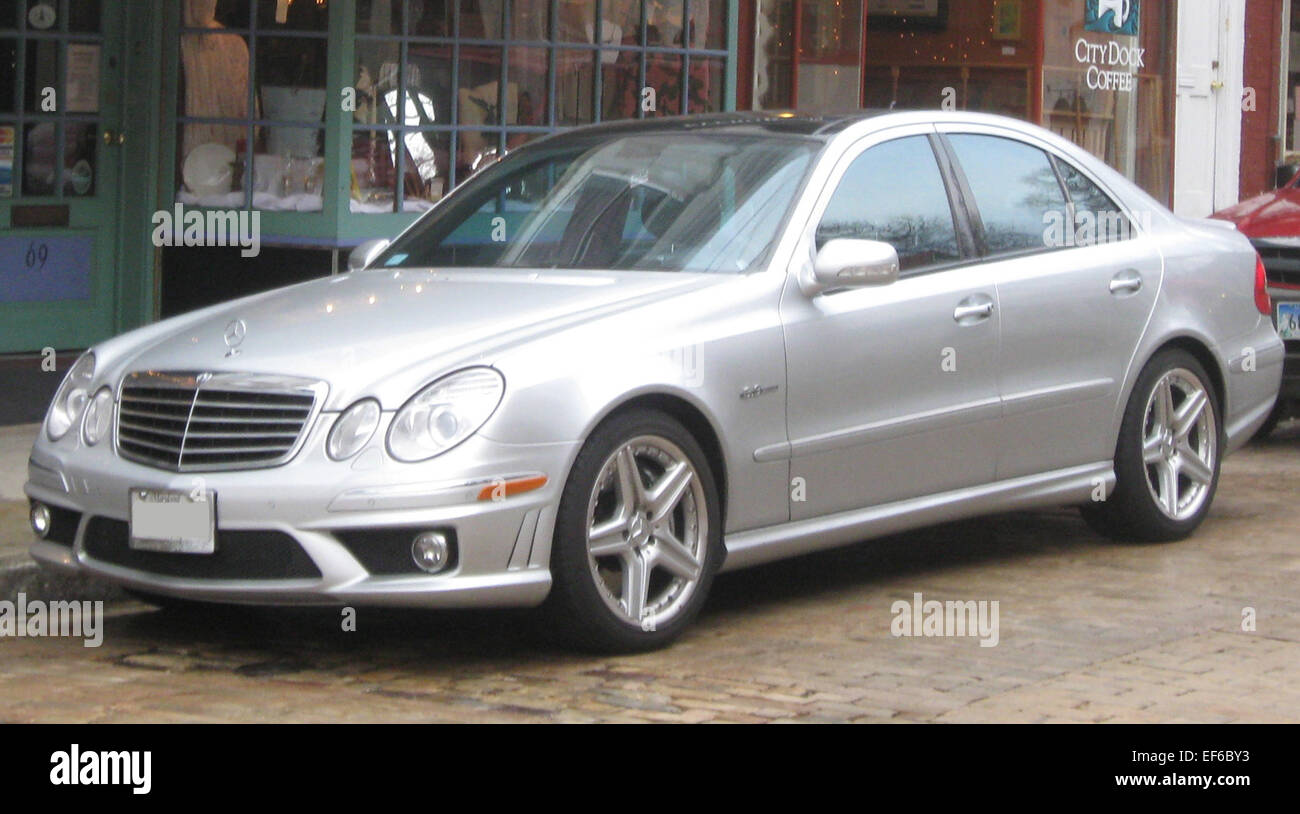 2007 2009 Mercedes Benz E63 AMG sedan 01 20 2010 Stock Photo ...