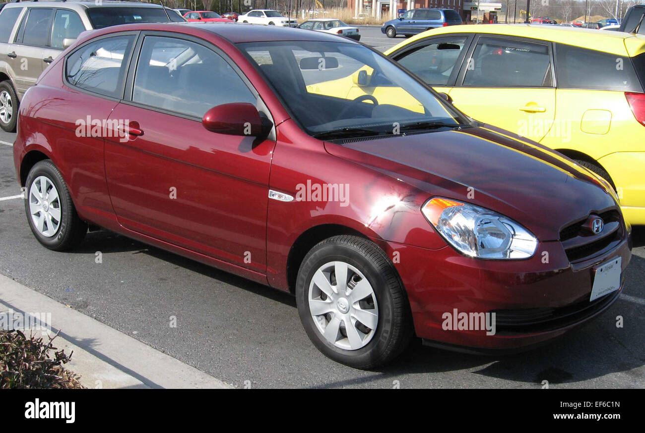 2007 hyundai accent hatchback stock photo 78202481 alamy. Black Bedroom Furniture Sets. Home Design Ideas