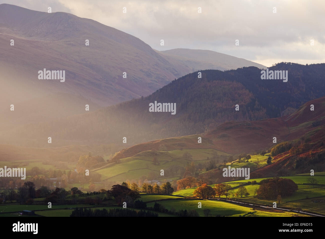atmospheric conditions in the lake district - Stock Image