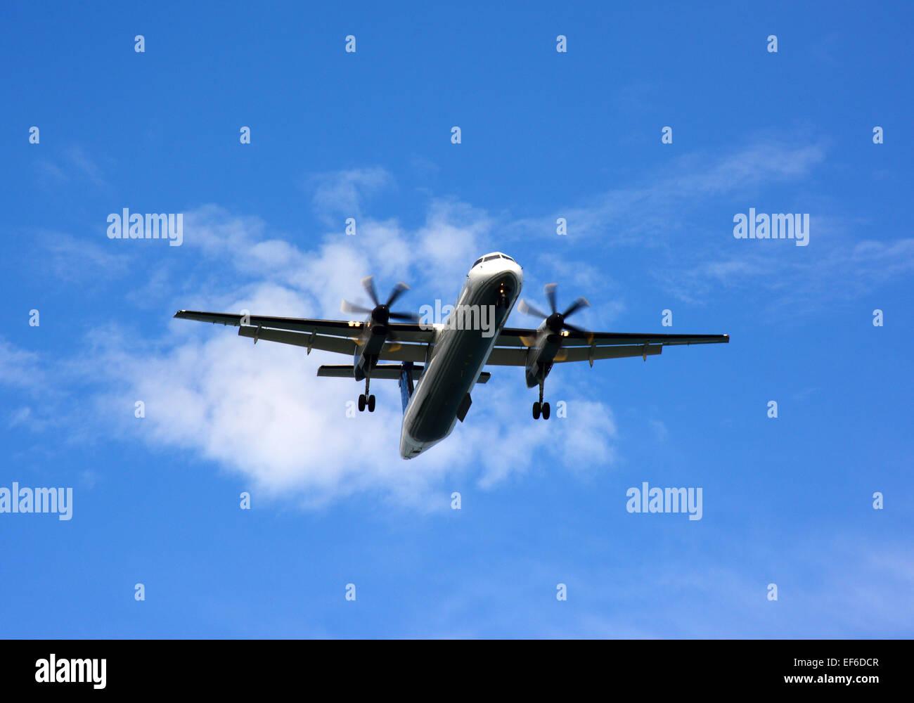 Porter airline airplane Landing - Stock Image