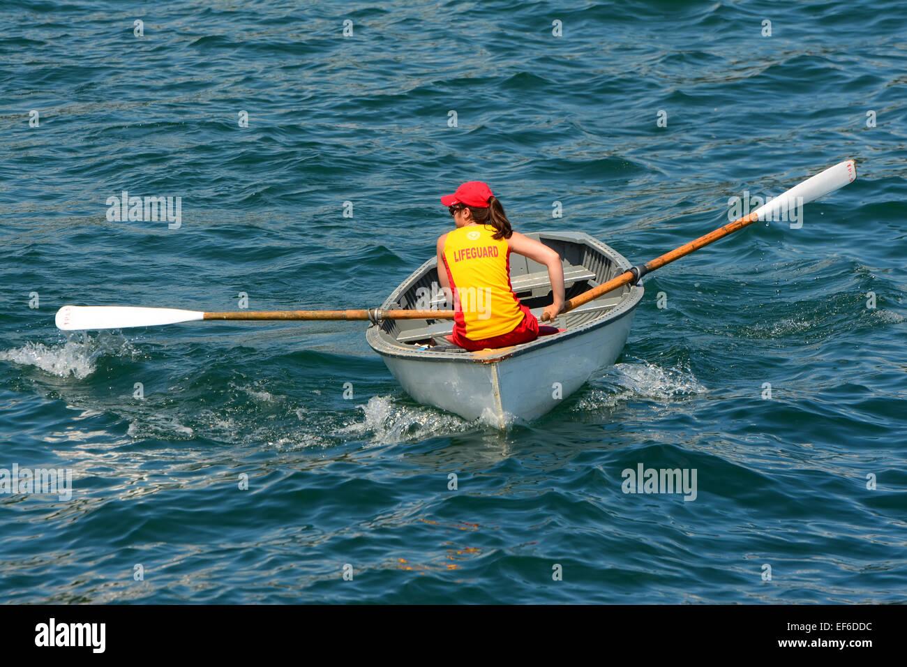 Lifeguard  rowboat - Stock Image