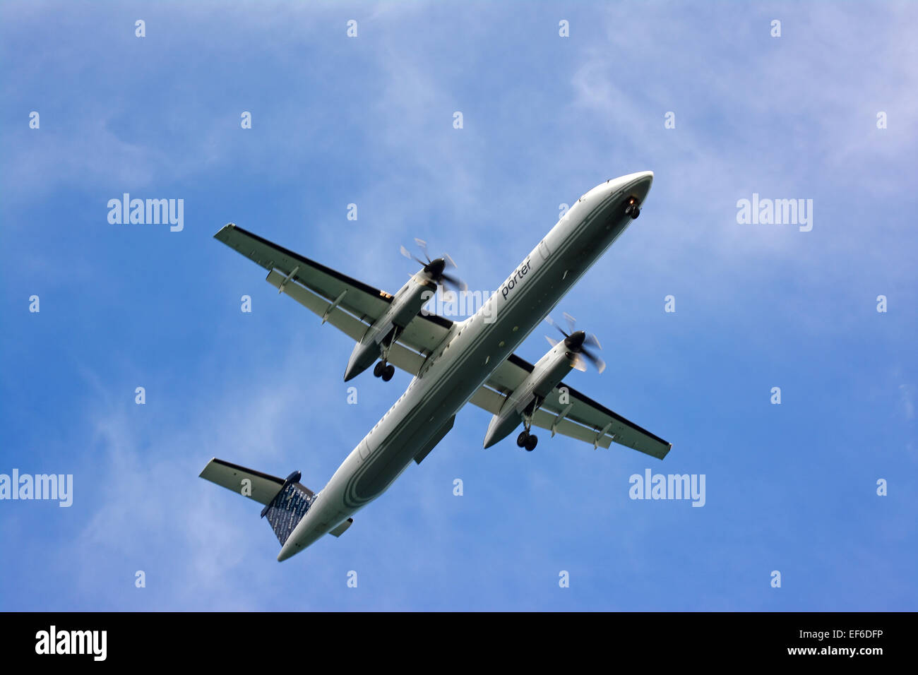 Porter airline airplane - Stock Image