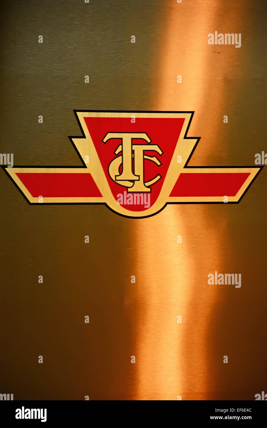 TTC logo on a subway - Stock Image