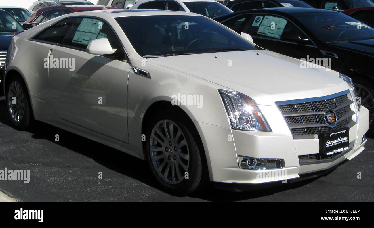 2011 Cadillac CTS coupe 10 22 2010 1 Stock Photo: 78204414 - Alamy
