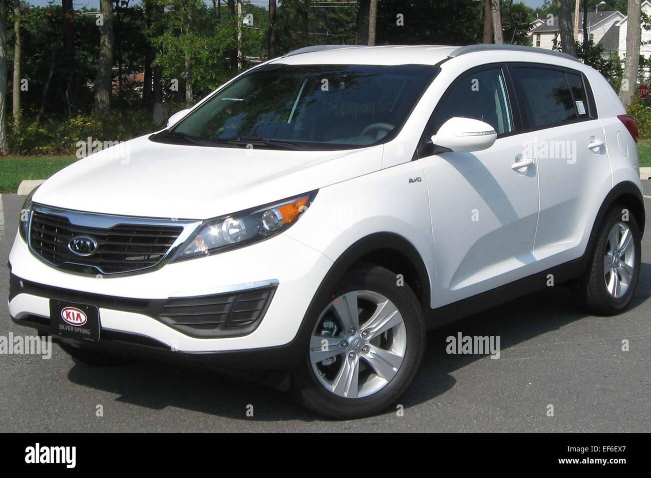 Kia Sportage Stock Photos Images Alamy Car Dashboard 08 2011 Lx 16 2010 Image