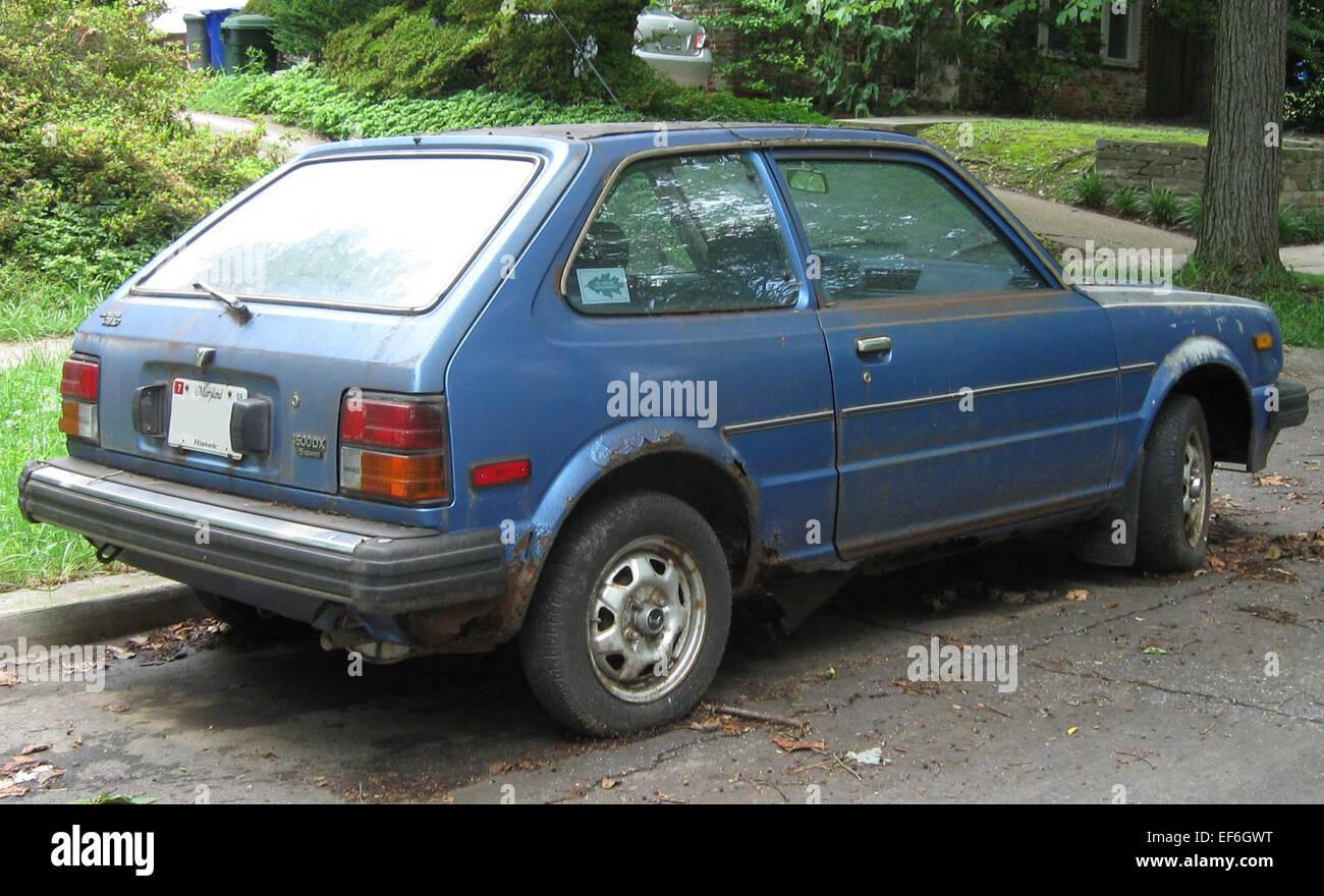 80 81 Honda Civic DX hatch rear Stock Photo: 78206292 - Alamy