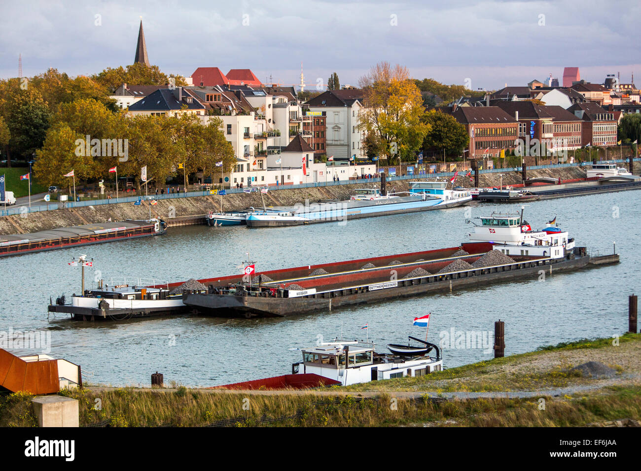 Duisburg-Ruhrort, Europe's largest inland port, river Rhine, - Stock Image