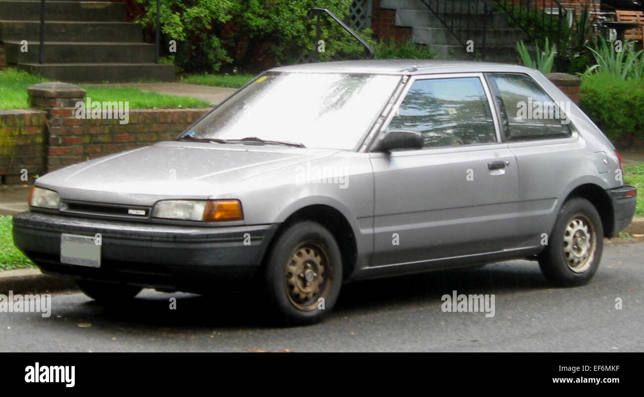 Mazda 323 stock photos mazda 323 stock images alamy mazda 323 hatch front stock image altavistaventures Choice Image