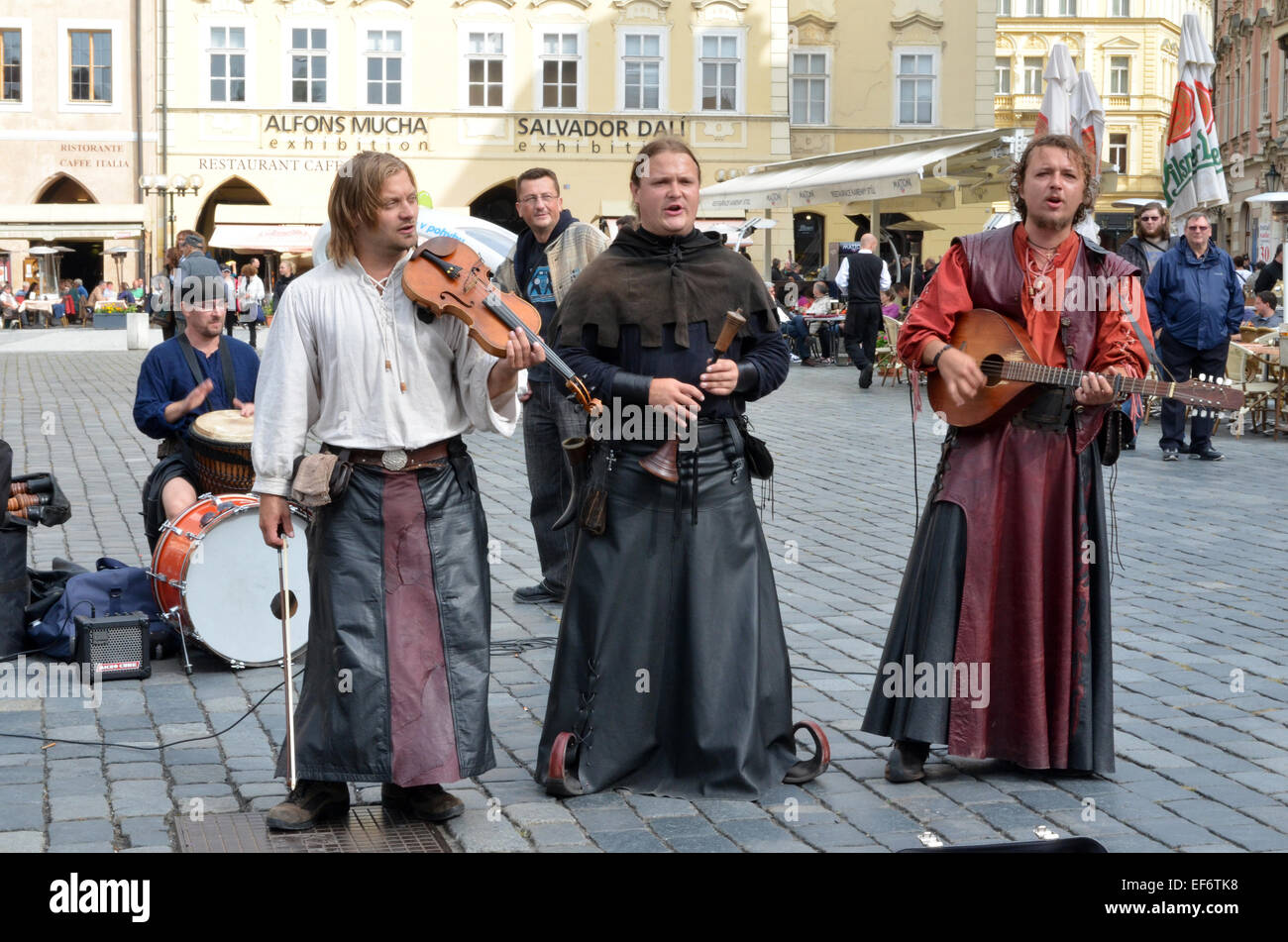 Music of the group Bohemian Bards is freely inspired by the music of medieval times from 13th until 15th century. - Stock Image