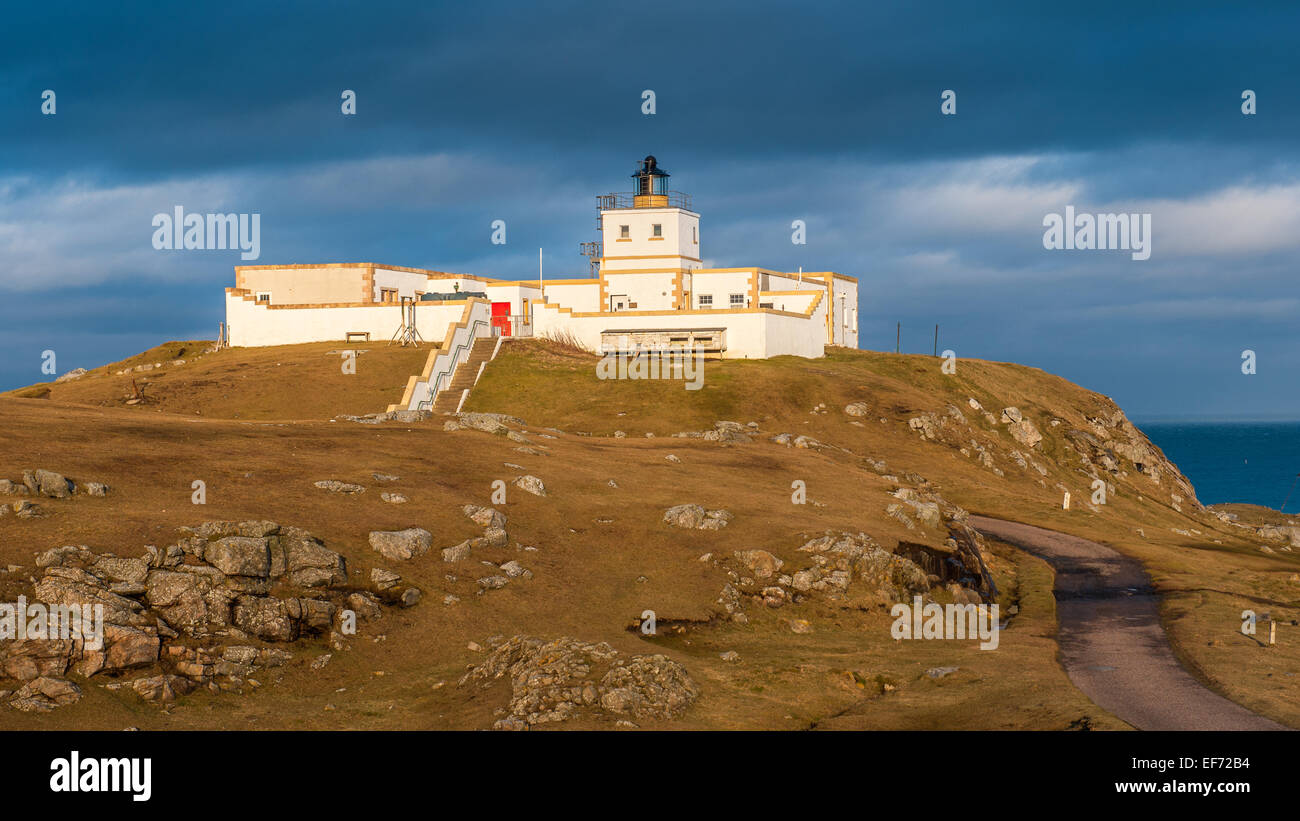 Strathy Point Lighthouse Caithness Stock Photo