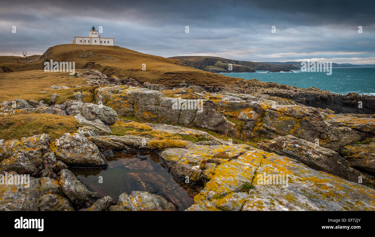 Strathy Point, The first all electric lighthouse to be built in Scotland - Stock Image