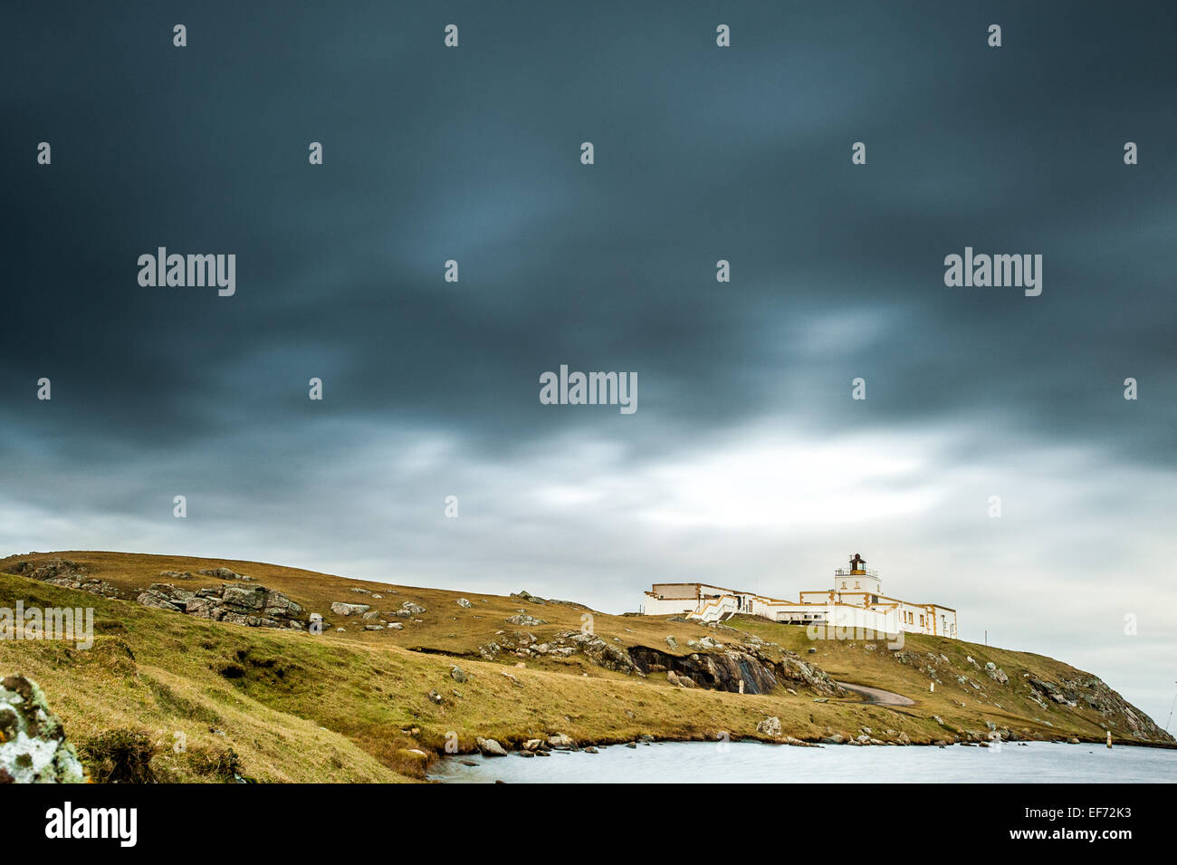 strathy point lighthouse caithness scotland - Stock Image