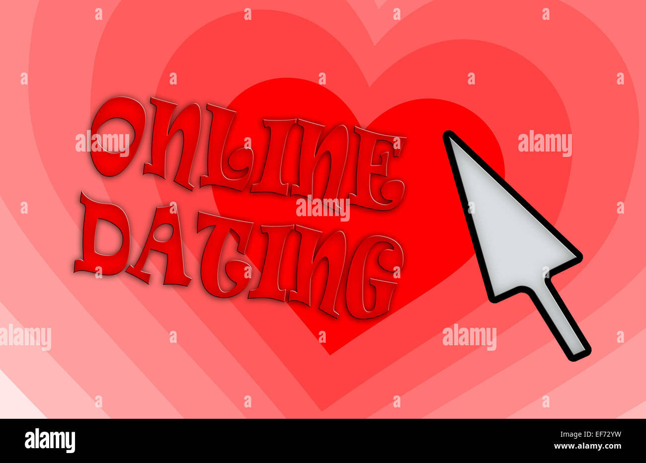 Heart shape backgound - Concept of dating - red - Stock Image